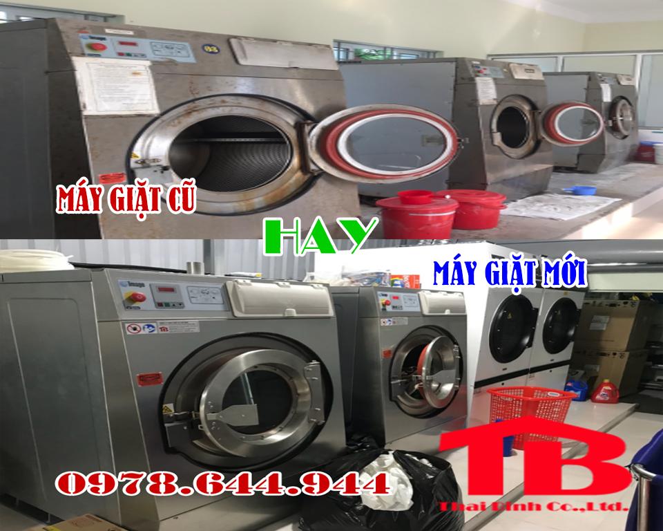 so sánh máy giặt công nghiệp cũ và máy giặt công nghiệp mới