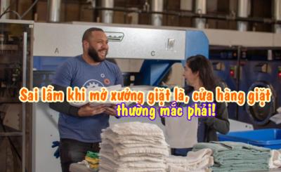 mở xưởng giặt là đầu tư máy giặt công nghiệp